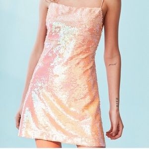 Urban Outfitters Kimchi Blue Peach Sequins Dress